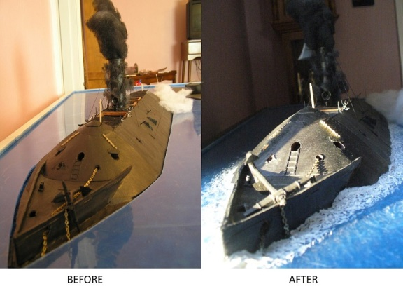 2019-03-09 Mer bow before-after